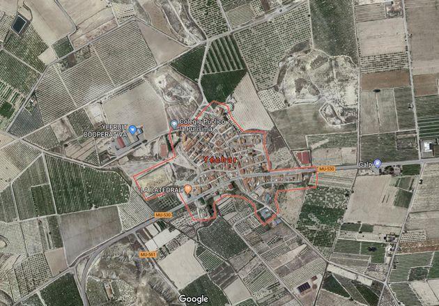 Mapa de situación de Yéchar, Murcia, donde han ocurrido los