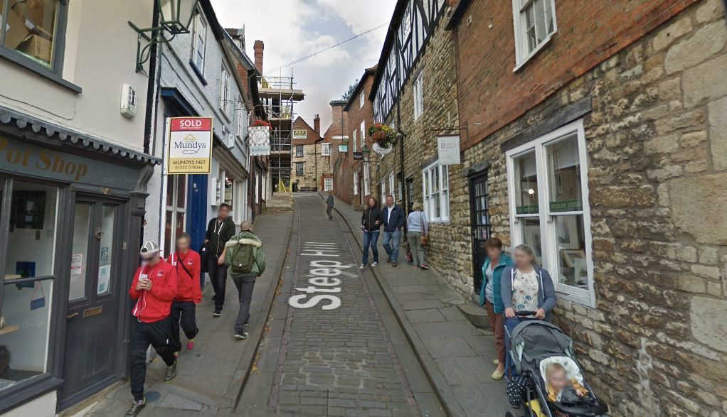 Steep Street, in Lincoln city centre, does what it says on the tin.