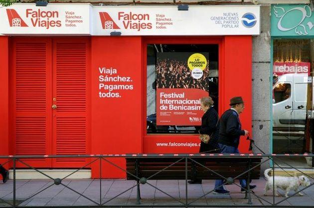 Se acabó: el PP cierra la agencia 'Falcon Viajes' y la web de la