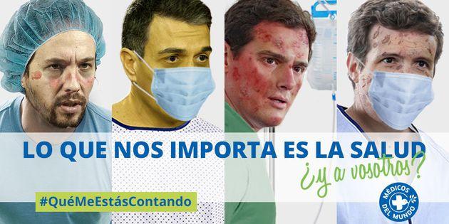 Cartel de la campaña deMédicos del