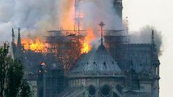 Catedral de Notre Dame, em Paris, é atingida por
