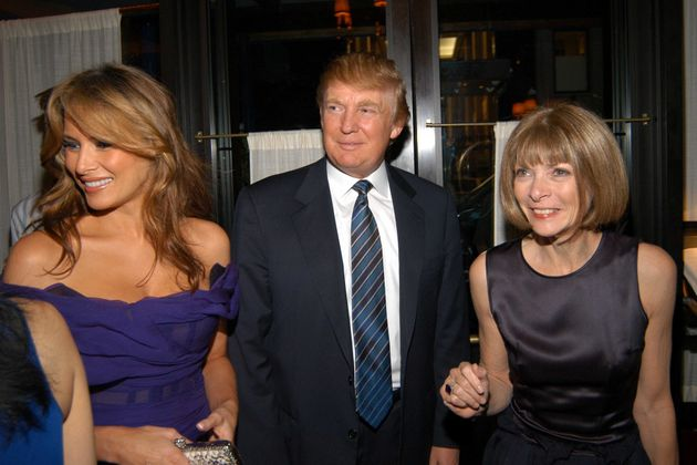 Melania and Donald Trump and Anna Wintour attend the launch party for Andre Leon Talley's Book ...