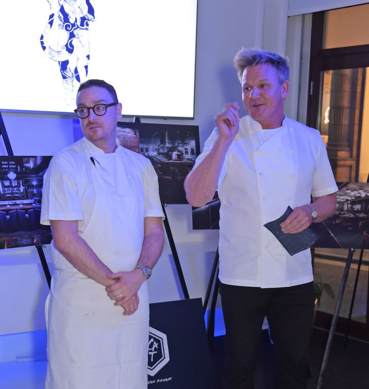 "Chef Ben Orpwood (left) and restaurateur Gordon Ramsay are preparing to open an ""authentic Asian Eating House."""