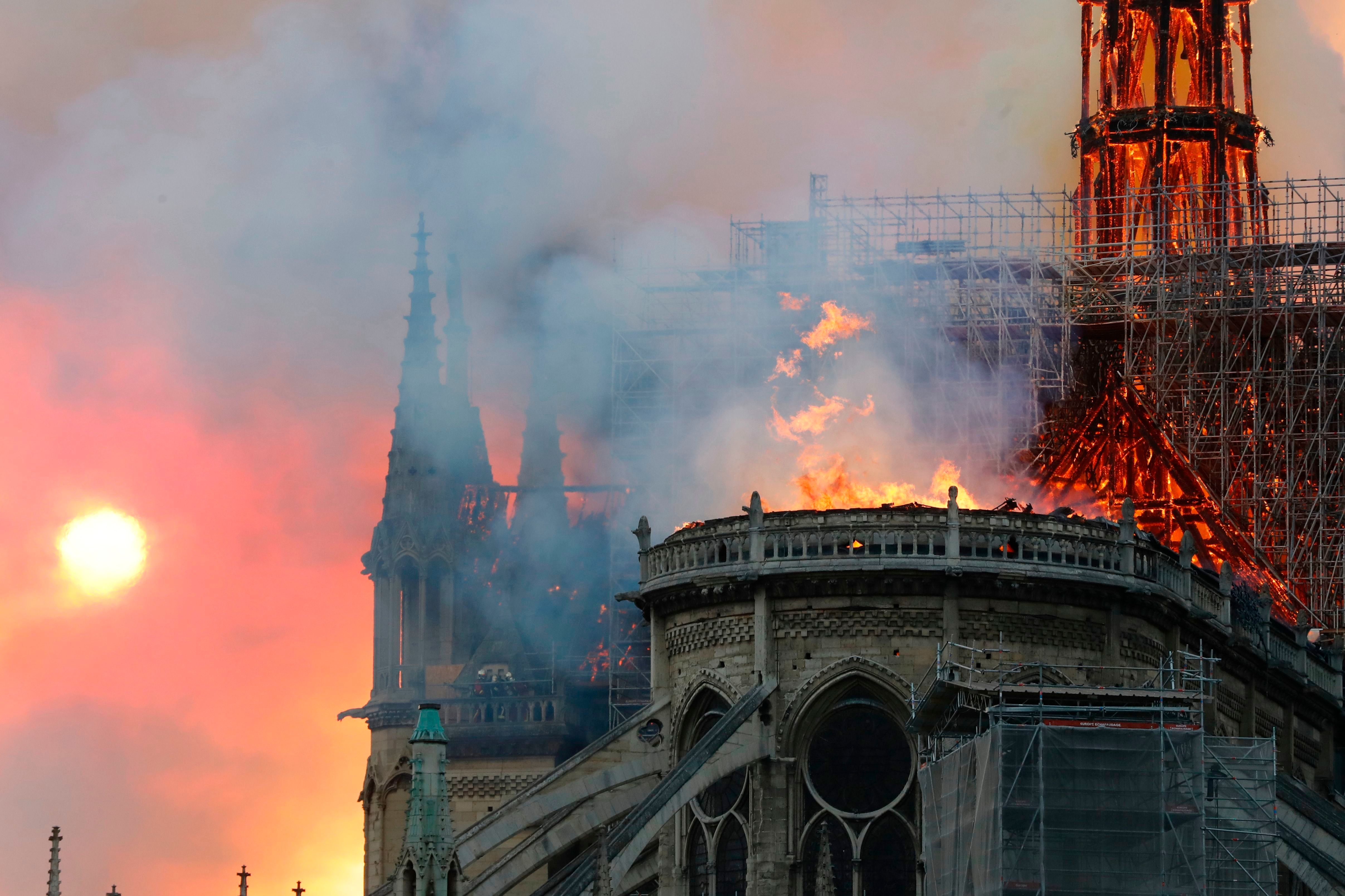 Dramatic Photos Show Notre Dame Cathedral In Paris Engulfed In Flames