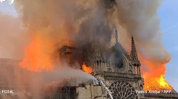 El fuego devora la catedral de Notre Dame en