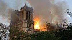 Les images impressionnantes de l'incendie de