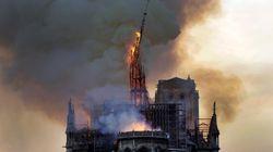 La imagen que siempre recordaremos: así cayó la aguja central de Notre