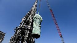 Les statues de la flèche de Notre-Dame ont été sauvées de