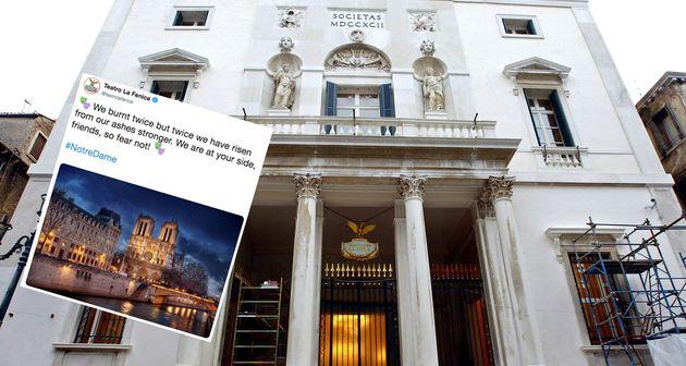 Notre-Dame de Paris: le beau message de La Fenice de