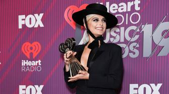 LOS ANGELES, CALIFORNIA - MARCH 14: Bebe Rexha attends 2019 iHeartRadio Music Awards press room during the 2019 iHeartRadio Music Awards which broadcasted live on FOX at Microsoft Theater on March 14, 2019 in Los Angeles, California. (Photo by Presley Ann/FilmMagic)