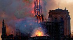 프랑스 파리 노트르담 대성당에 치명적인 대형 화재가