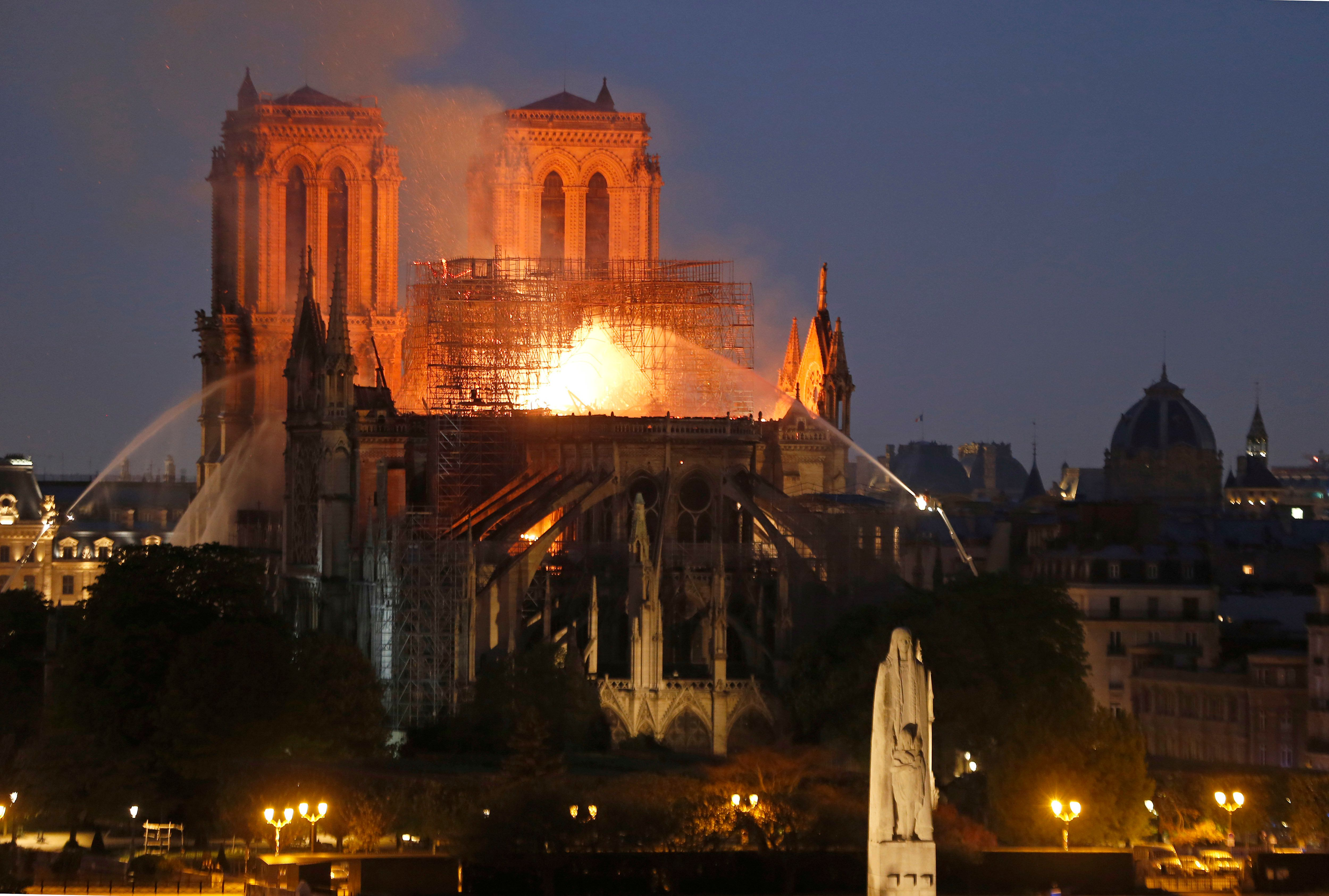 Notre Dame Fire Ravages Iconic Paris Cathedral