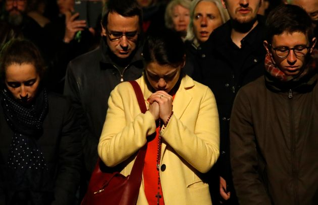 Notre Dame Fire: Parisians Sing 'Ave Maria' In Sombre Tribute To Burning
