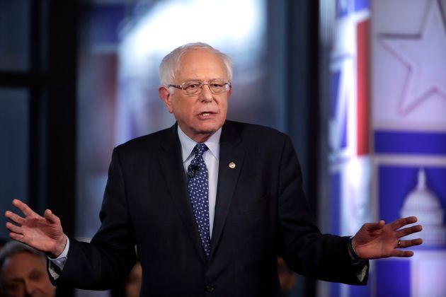 Sen. Bernie Sanders (I-Vt.) speaks during a Fox News town-hall-style event on Monday in Bethlehem,