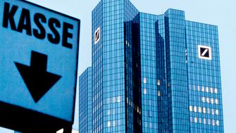 The Deutsche Bank headquarters is seen ahead of the annual press conference in Frankfurt, Germany, Friday, Feb. 1, 2019. (AP Photo/Michael Probst)