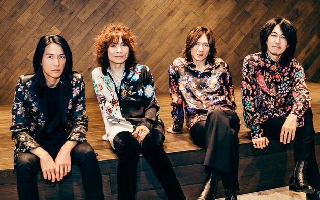 THE YELLOW MONKEY:ドラム・菊地英二、ベース・廣瀬洋一、ヴォーカル/ギター・吉井和哉、ギター・菊地英昭(左から、文中敬称略)