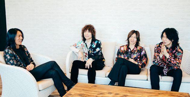 THE YELLOW MONKEY:ドラム・菊地英二、ベース・廣瀬洋一、ヴォーカル/ギター・吉井和哉、ギター・菊地英昭(文中敬称略)
