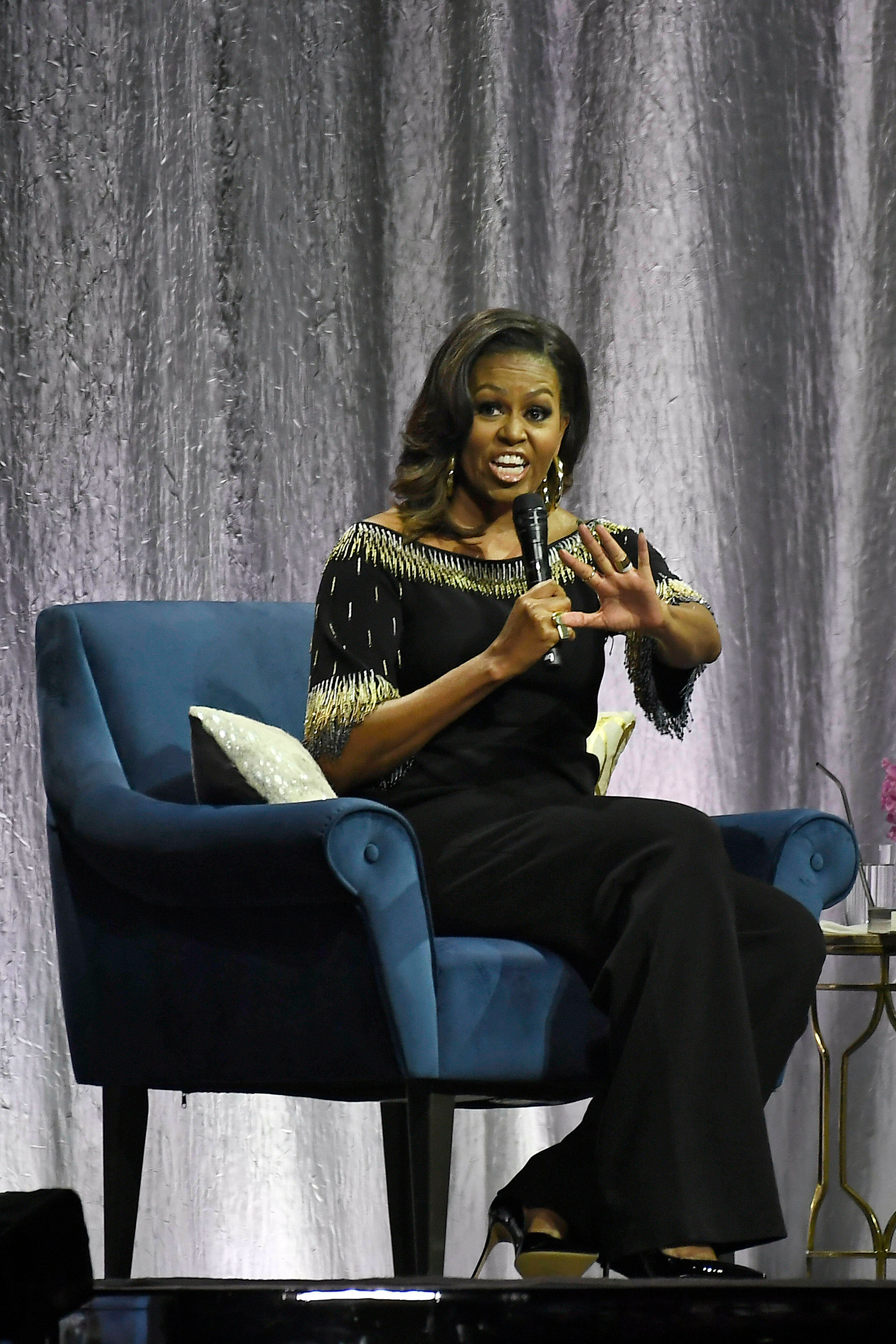 Photo by: KGC-138/STAR MAX/IPx 2019 4/14/19 Becoming: An Intimate Conversation with Michelle Obama at the O2 Arena in London.