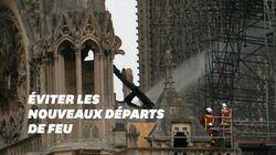 Notre-Dame: les images des dégâts au lever du