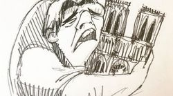 La historia tras el desolador dibujo del jorobado de Notre Dame que todos están compartiendo tras el
