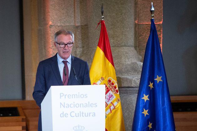 El ministro José Guirao, durante la entrega de los Premios Nacionales de Cultura, el pasado marzo,...