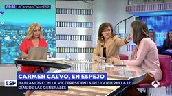 El detalle en el rostro de una colaboradora de 'Espejo Público' que ha llamado la atención a Carmen