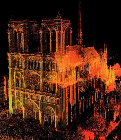 Un des scanners de la cathédrale Notre-Dame de Paris. Les plans dressés par Andrew Tallon...