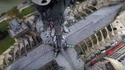 Así se veía París desde lo alto de la aguja de la catedral de Notre