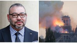 Incendie de Notre-Dame: Le roi Mohammed VI adresse un message à Emmanuel