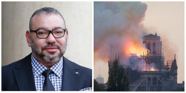 Le roi Mohammed VI adresse un message de soutien et de solidarité à Emmanuel Macron après l'incendie...