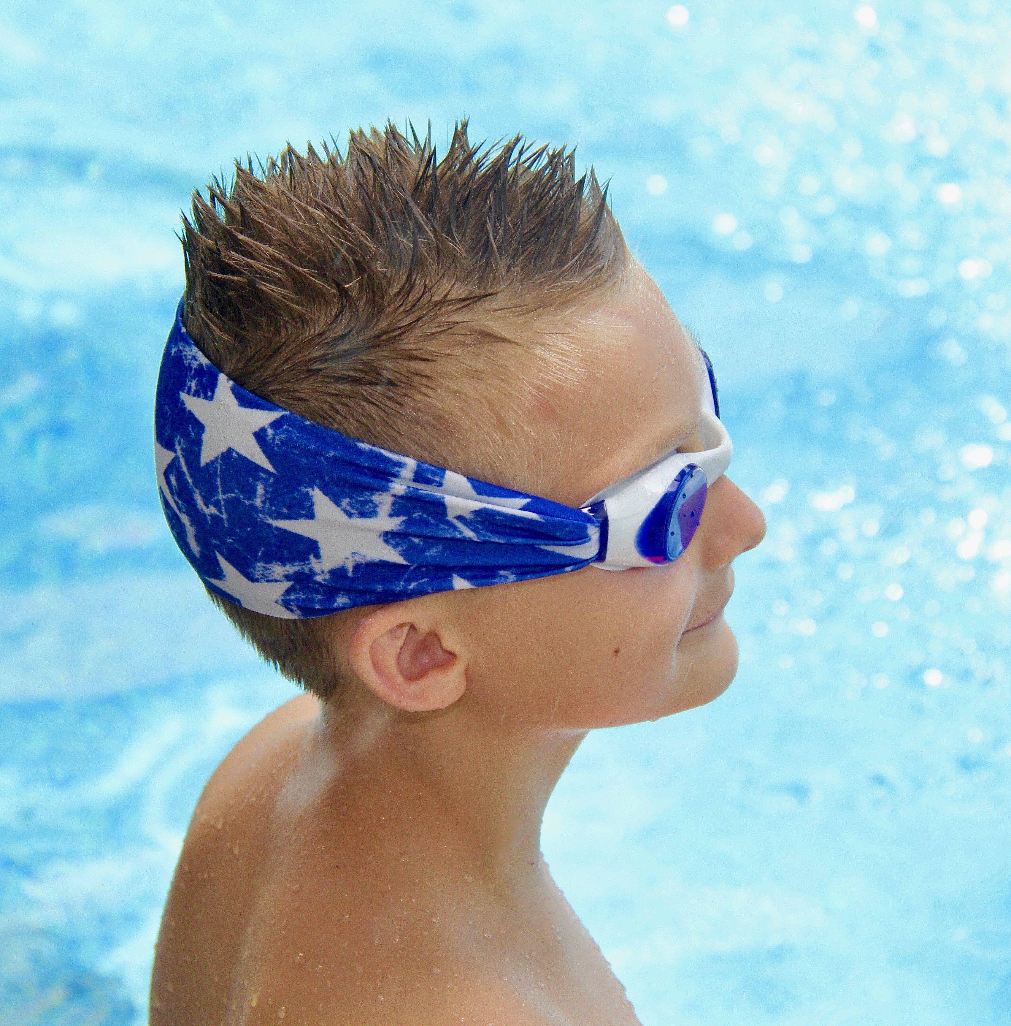 Splash Swim Goggles keep kids from yanking their hair out when putting them on.