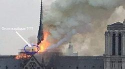 N'en déplaise aux complotistes, cette silhouette n'a pas déclenché l'incendie de
