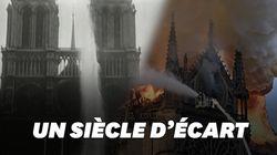 Notre-Dame était déjà arrosée par les lances à incendie un siècle