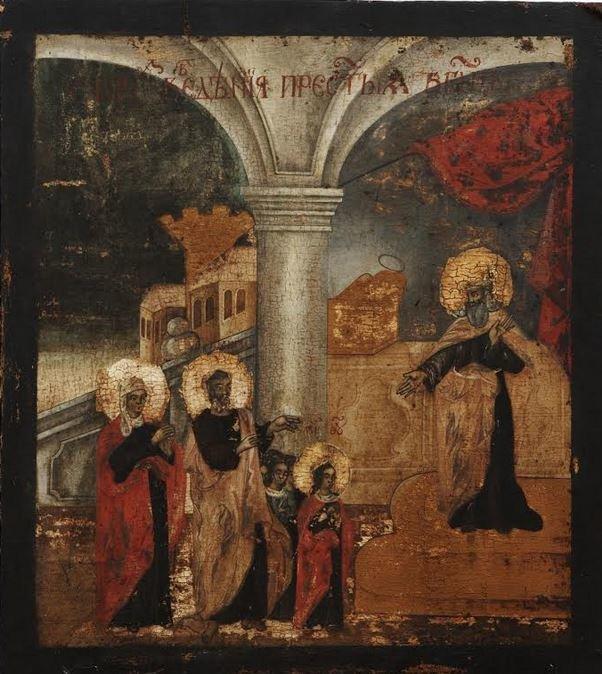 Τα Εισόδια της Θεοτόκου (52Χ47), 17ος αιώνας