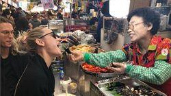 '캡틴 마블' 브리 라슨이 한국에서 먹은