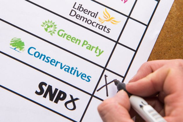 Ballot papers usually display party logos alongside candidates'