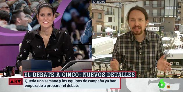 Pablo Iglesias provoca una carcajada en directo con este comentario en 'Al Rojo Vivo':