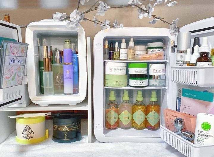 Should you store your vitamin C serums in the fridge? Or have you wondered whether you should store refrigerate your retinols? Here's everything you need to know about storing beauty products in a makeup fridge.