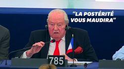 Les derniers mots de Le Pen au Parlement