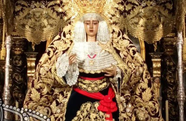 María Santísima de la Caridad, la virgen del Baratillo que lucirá mañana...