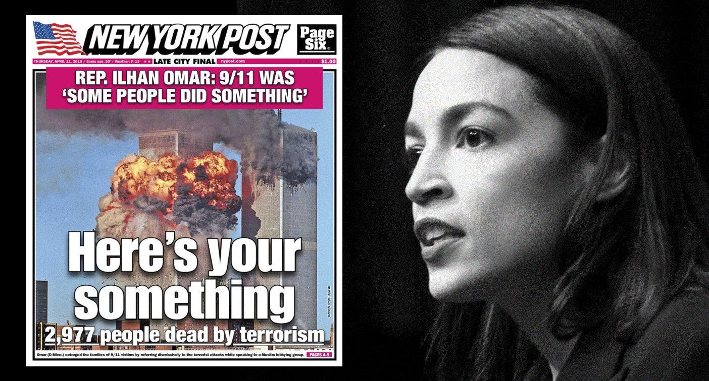 New York Post on April 11, 2019, and Alexandria Ocasio-Cortez