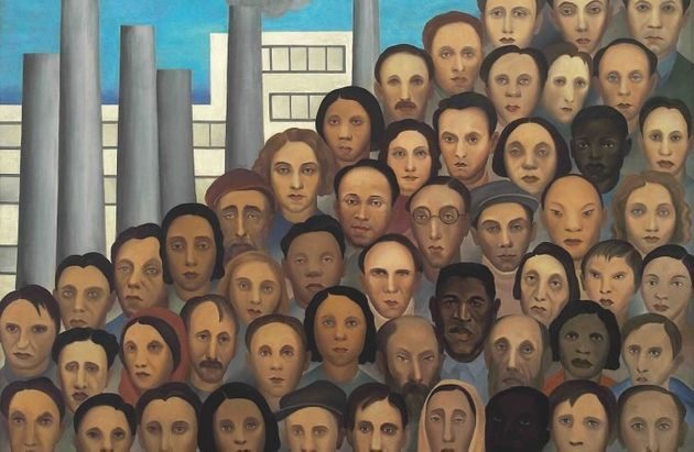 Tela 'Operários' (1933), que retrata período industrial do País, está presente...