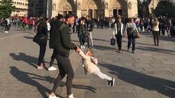 Viral Search Helps Woman Find Man And Child She Photographed Before Notre Dame