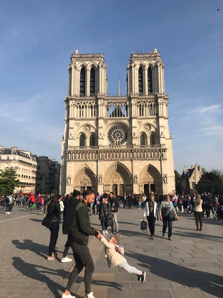 The photo Brooke Windsor took in front of Notre Dame Cathedral just an hour before it caught fire.