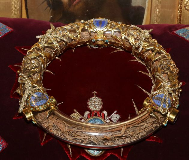 The Crown of Thorns at the Notre Dame cathedral in