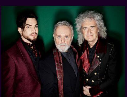 2020年1月に来日公演を行うアダムランバートとロジャー・テイラー、ブライアン・メイ(左から)