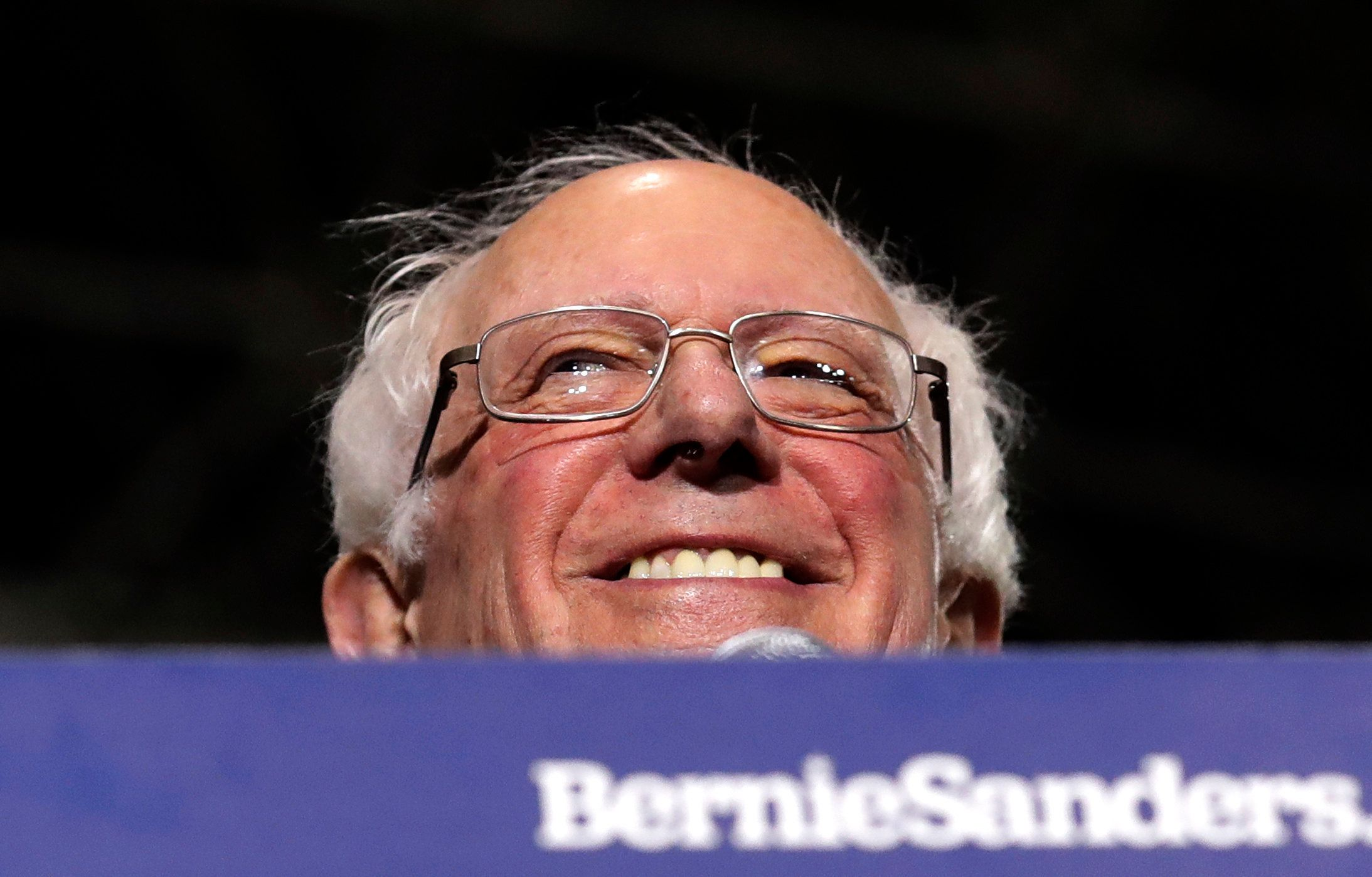 In this March 3, 2019, photo, Sen. Bernie Sanders, I-Vt., smiles as he kicks off his 2020 presidential campaign at Navy Pier in Chicago. (AP Photo/Nam Y. Huh)