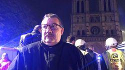La Couronne d'Épines et le Saint-Sacrement sauvés de l'incendie de Notre-Dame par l'aumônier des