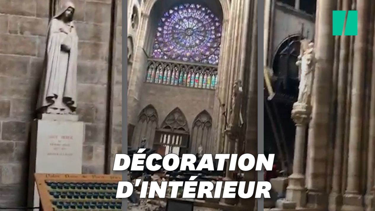 Ces images montrent l'intérieur de Notre-Dame étonnamment préservé des