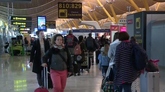 El aeropuerto Adolfo Suárez-Madrid-Barajas, en pleno